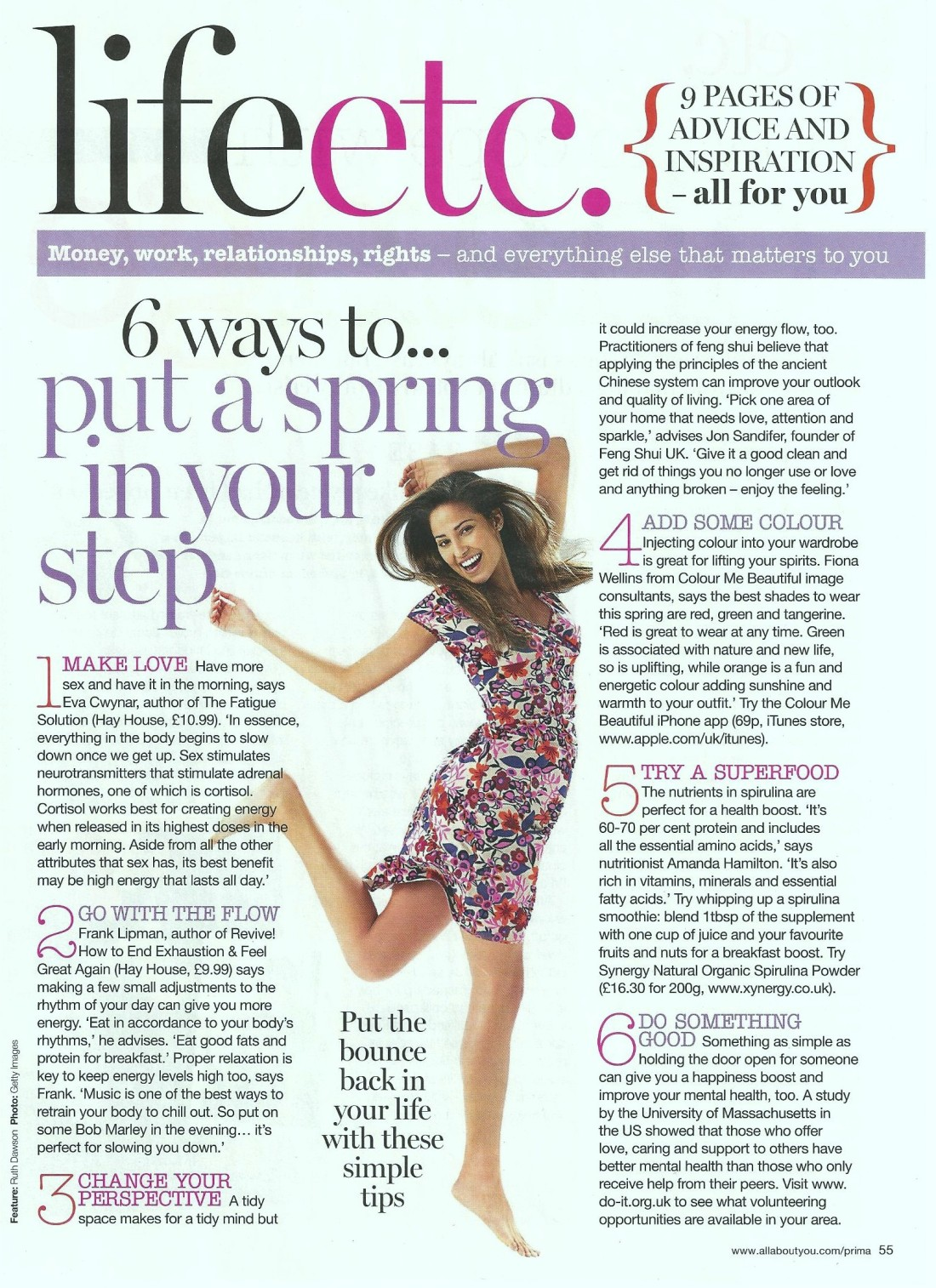 6 ways to put a spring in your step, Prima