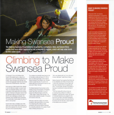 Climbing to make Swansea proud, Swansea Life