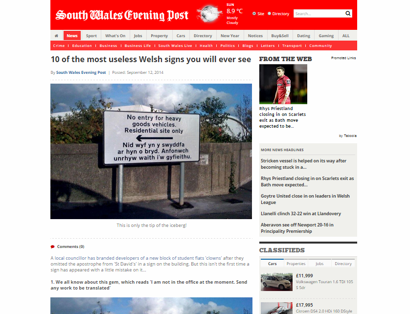 10 of the most useless Welsh signs you will ever see