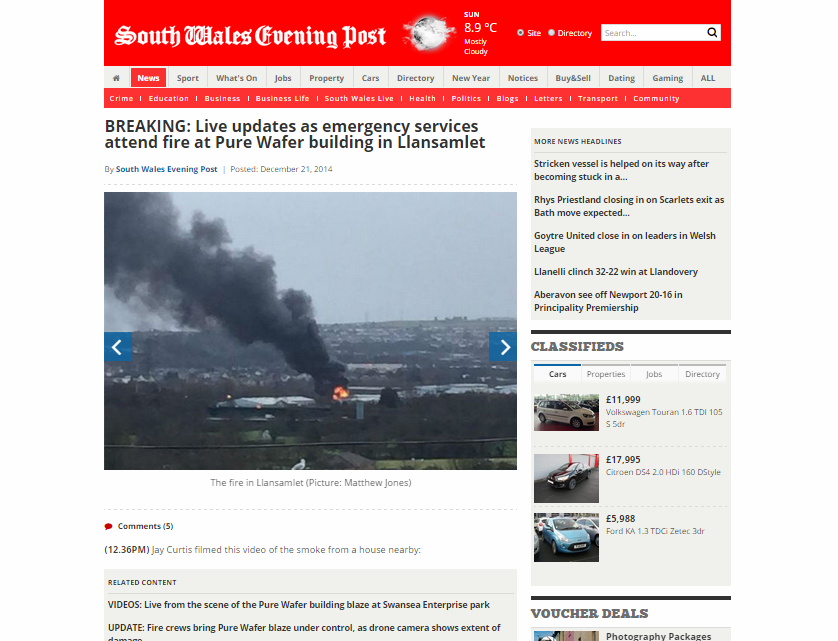 BREAKING: Live updates as emergency services attend fire at Pure Wafer building in Llansamlet